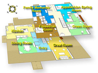 Iron Mountain Inn Bed and Breakfast - Floor Plan
