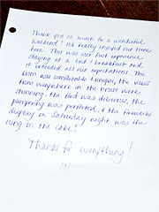 Iron Mountain Inn Bed and Breakfast - Guestbook Reviews