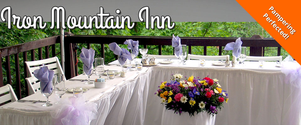 Iron Mountain Inn Bed and Breakfast - Watauga Lake - Bristol TN - Johnson City TN - Boone NC - Weddings